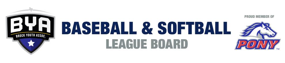 Brock Pony League Baseball & Softball
